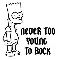 NEVER TOO YOUNG TO ROCK
